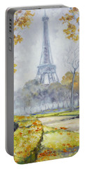 Paris Eiffel Tower From Trocadero Park Portable Battery Charger