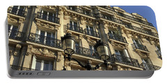 Portable Battery Charger featuring the photograph Paris Facades by Frank DiMarco