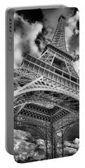 Paris France Eiffel Tower Bnw 7k_dsc1999_09102017 Portable Battery Charger