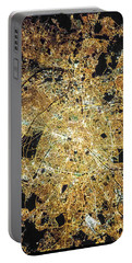 Paris From Space Portable Battery Charger by Delphimages Photo Creations