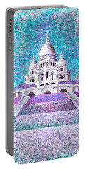 Portable Battery Charger featuring the mixed media Paris II by Elizabeth Lock