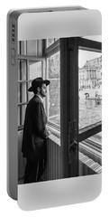 Paris Man In Muesum Portable Battery Charger