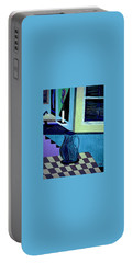 Portable Battery Charger featuring the painting Paris Memories  By Bill O'connor by Bill OConnor