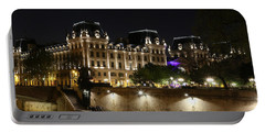 Portable Battery Charger featuring the photograph Paris Police Headquarters by Andrew Fare