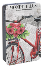 Paris Ride 2 Portable Battery Charger by Debbie DeWitt