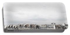 Paris Rooftops View From Centre Pompidou Portable Battery Charger