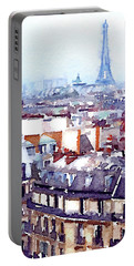 Paris Rooftops Watercolor Portable Battery Charger