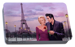Paris Sunset Portable Battery Charger by Chris Consani
