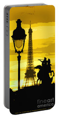 Paris Tour Eiffel Yellow Portable Battery Charger