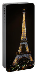 Paris Visit At Night Portable Battery Charger