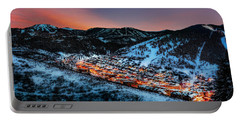 Park City Winter Sunset Portable Battery Charger