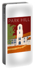 Park Hill Maroon Portable Battery Charger