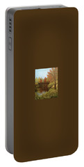 Park In Autumn Portable Battery Charger by Angela Stout