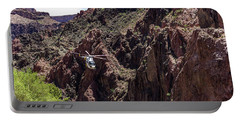 Park Service Helicopter In The Grand Canyon  Portable Battery Charger