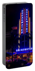 Portable Battery Charger featuring the photograph Parked At The Breakwater by Melinda Ledsome