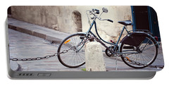 Parked In Paris - Bicycle Photography Portable Battery Charger
