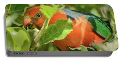 Portable Battery Charger featuring the photograph  Parrot In Apple Tree by Werner Padarin