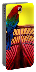 Parrot Sitting On Chair Portable Battery Charger