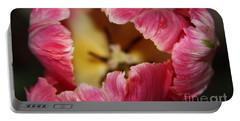 Portable Battery Charger featuring the photograph Parrot Tulip by Jolanta Anna Karolska