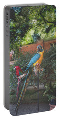 Parrots In The Garden Portable Battery Charger
