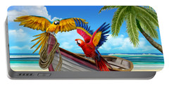 Parrots Of The Caribbean Portable Battery Charger