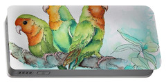 Parrots Trio Portable Battery Charger by Inese Poga