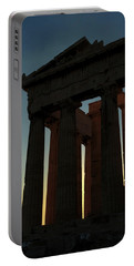 Parthenon At Sunset Portable Battery Charger