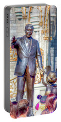 Portable Battery Charger featuring the photograph Partners Statue by Mark Andrew Thomas