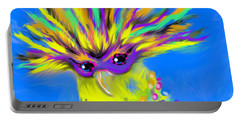 Portable Battery Charger featuring the digital art Party Animal by Jean Pacheco Ravinski