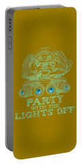 Portable Battery Charger featuring the mixed media Party With The Lights Off by TortureLord Art