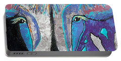 Portable Battery Charger featuring the painting My Wild Side by Suzanne Theis