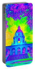 Pasadena City Hall In Vibrant Color 2 Portable Battery Charger by Karen J Shine