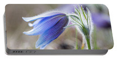 Pasque Flower's Silver Grey Hair Portable Battery Charger