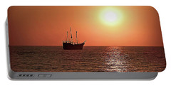 Portable Battery Charger featuring the photograph Passing By In Calm Waters by Joan  Minchak
