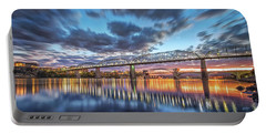 Passing Clouds Above Chattanooga Pano Portable Battery Charger