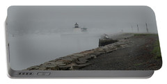 Portable Battery Charger featuring the photograph Passing In The Fog by Jeff Folger