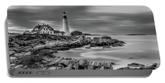 Passing Storm At Portland Head Light Portable Battery Charger