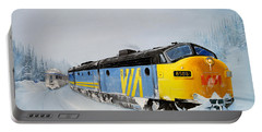 Passing Trains Portable Battery Charger