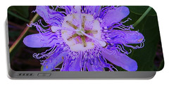 Portable Battery Charger featuring the photograph Passion Flower Bloom by Shirley Moravec