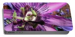 Portable Battery Charger featuring the photograph Passion Flower by Jolanta Anna Karolska