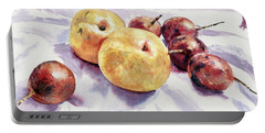 Passion Fruits And Pears Portable Battery Charger by Joey Agbayani