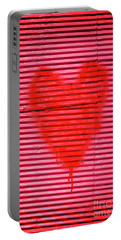Passionate Red Heart For A Valentine Love Portable Battery Charger
