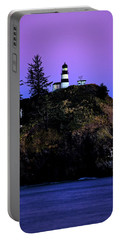 Portable Battery Charger featuring the photograph Past Sunset At Cape Disappointment by Mary Jo Allen