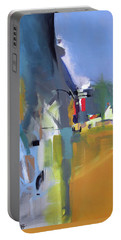 Portable Battery Charger featuring the painting Past The Doorway by John Jr Gholson