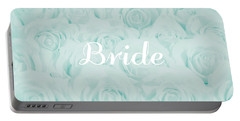 Pastel Aqua Bride Design Portable Battery Charger