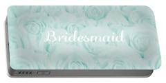 Pastel Aqua Bridesmaid Design Portable Battery Charger