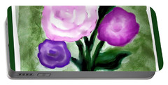 Pastel Bouquet Painting Portable Battery Charger