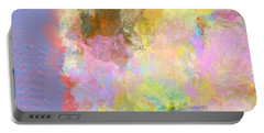 Portable Battery Charger featuring the digital art Pastel Flower by Jessica Wright