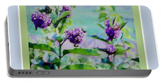 Pastel Green Field Flowers Portable Battery Charger