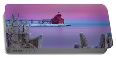 Pastel Lighthouse Portable Battery Charger